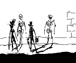 Sneaky shadow skeletons