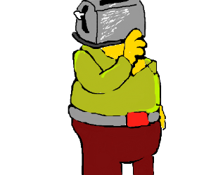 Ralph Wiggum's head is a toaster