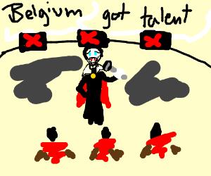 Dracula fail at Belgium's got talent