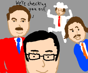 ron burgundy and the channel 4 news team - Drawception
