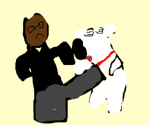 Trevor phillips beats up Brian Griffin