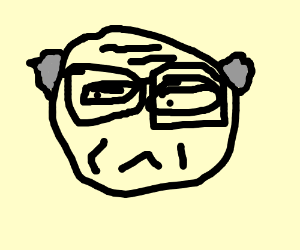 old mans face