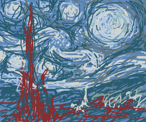 Van Gogh during his blue period.