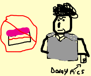 no cake for gary.