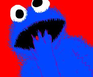 Cookie Monster took the red pill.