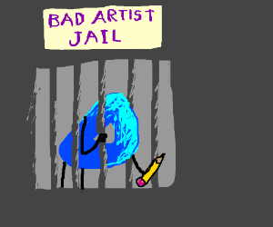 Drawception D's poor artwork sends him to jail