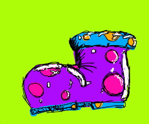 Sparkling Purple Polka-Dotted Boot