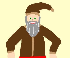 santa reinvents wardrobe in brown
