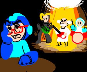 Hipster Mega Man hates Dr. Wily's band.
