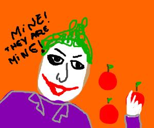 Joker steals apples