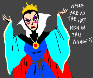 The evil queen talks about hot boys