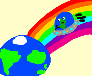 Riding Rainbow to Earth