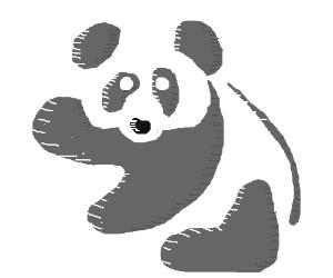 well drawn panda