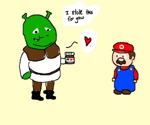 Shrek steals the nutella