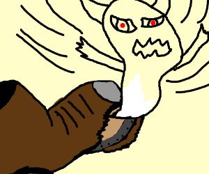 Torn Boot Releases Evil Spirit