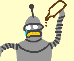 Bender crying because there's no booze