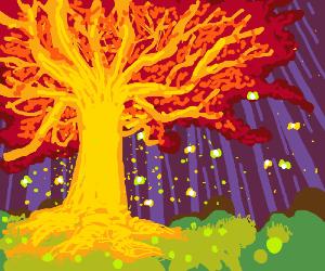 Psychedelic Magic Oak Tree