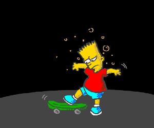 Drunk Bart Simpson