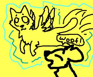 Woof! It's a Flying Cat!