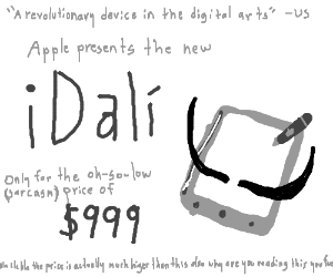 Salvador Dali has field day with Apple product