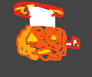 Werid Pumkin Thats Exploding
