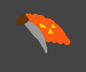 evil pumpkin chef