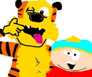 Eric Cartman and Hobbes