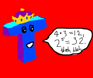 A King T is talking about math stuff