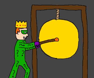 King Riddler strikes a gong