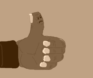 Black guys thumb hates... something.