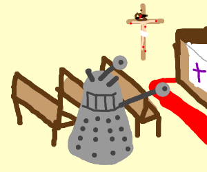 Dalek goes to Church