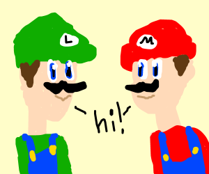 Mario and Luigi saying hi.