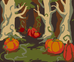 Taking a stroll through halloween forest