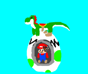 Yoshi Trapped Mario In An Egg Mario Is Mad Drawception