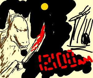 Some Murderous Midnight Horses with Weapons.