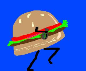 Burger Hamburger (not Hamburglar) steals money
