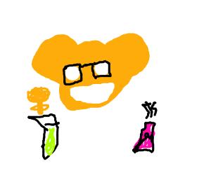 Deadmau5 doing hardcore chemistry experiments