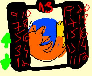 Firefox in an elevator