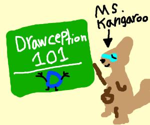 Ms. Kangaroo teaches about Drawception basics