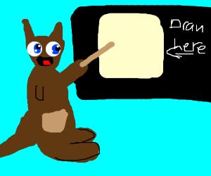 Ms. Kangaroo teaches the basics of Drawception