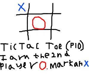 TIC TAC TOE (PIO) game - I'am 1st panel -  X