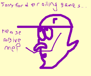 Waluigi apologizes for derailing games