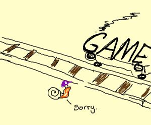 Waluigi-slug derails the game apologetically