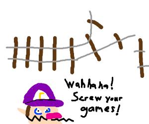 Waluigi snail drails the game
