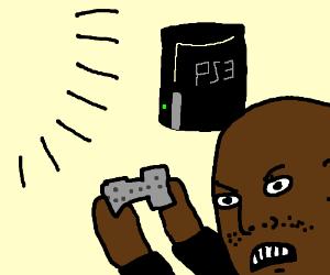 a seal has a ps3, but no tv