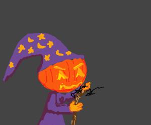Evil pumpkin wizard