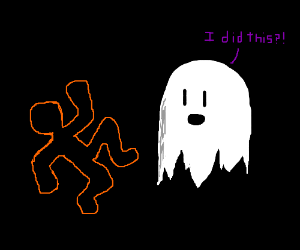 The ghost is to blame for the orange outline.