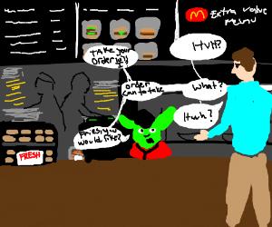 Yoda works at McDonalds