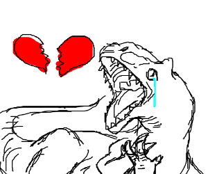 Dinosaur heartbreak. ;-(