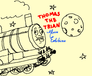 thomas the trian, next stop: the moon